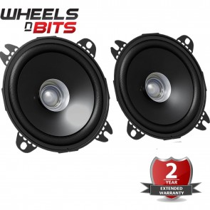 "NEW JVC CS J410X 10CM 4"" Inch 210 Watts 43mm depth Dual Cone Car Speakers Door"