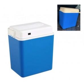 Wheels N Bits 30 Litre Electrical Coolbox 240V AC & 12V DC Electric Cooler Box Blue