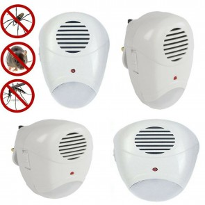 Wheels N Bits New 4x Ultrasonic Pest Repeller Plug In Pest Rodent Mouse Mice Rat Spider Insect