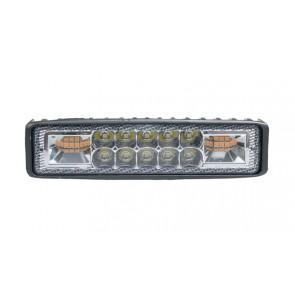 Wheels N Bits New Amber / White Strobe and Led Working Light Bar 16 Leds 4800 15cm Grill Roof
