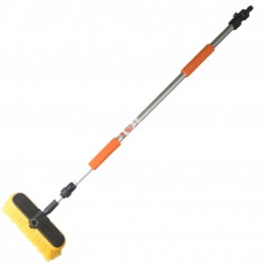5ft Car Wash brush 20cm wide head double extension to 1.6 metres 5.5cm Bristles