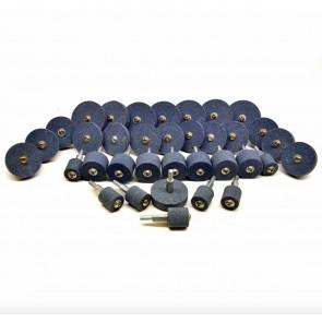 "Wheels N Bits 1/4"" 36pc Assorted Grinding Stones Coarse & Fine Wheels Metal Plastic Stone"