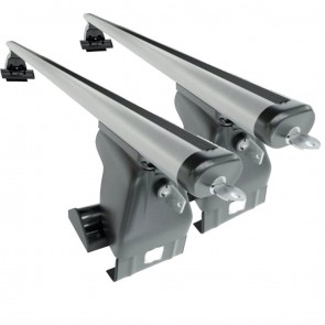 Wheels N Bits Gutterless Roof Rack D-1 Plus Areo To Fit Daewoo Kalos Hatchback 5 Door 2003 to 2011 120cm Aluminium Bars