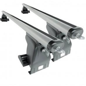 Wheels N Bits Gutterless Roof Rack D-1 Plus Areo To Fit KIA Optima Sedan 4 Door 2001 to 2002 140cm Aluminium Bars