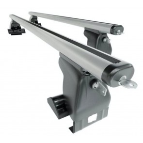 Wheels N Bits Gutterless Roof Rack D-1 Plus Areo To Fit Ford Fusion Hatchback 5 Door 2002 to 2013 120cm Aluminium Bars