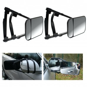 Wheels N Bits Larger Towing Mirror Dual Glass With Wide Angel View Trailer for Mitsubishi