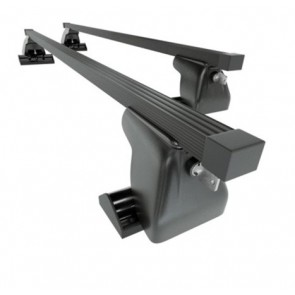 Wheels N Bits Fixed Point Roof Rack C-15 Plus To Fit Dacia Logan MCV Estate 5 Door 2007 Onwards 120cm Steel Bar with Locking End Caps