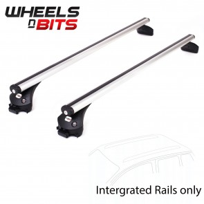 Wheels N Bits Integrated Railing Roof Rack To Fit Vauxhall Crossland X SUV 5 Door 2017 Onwards 107cm Areo Aluminium Bar