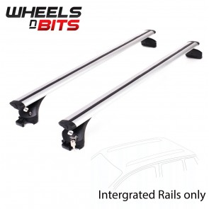 Wheels N Bits Integrated Railing Roof Rack To Fit Audi A6 Avant, Estate 5 Door 2011 Onwards 120cm Areo Dynamic Aluminium Bar