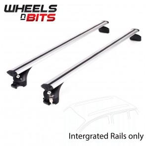 Wheels N Bits Integrated Railing Roof Rack To Fit Toyota Highlander SUV 5 Door 2014 Onwards 120cm Areo Dynamic Aluminium Bar
