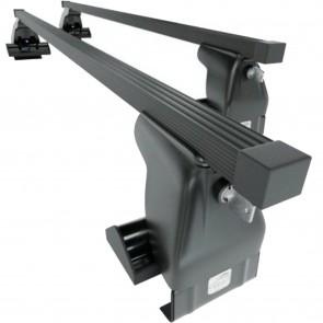 Wheels N bits Gutterless Roof Rack WNB-D1 Plus and 130cm steel Bars 75kg Weight Load Locking End Caps