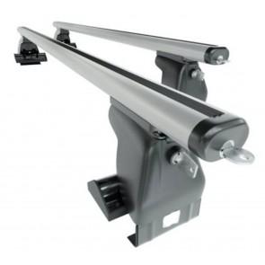 Wheels N bits Gutterless Roof Rack WNB-D1 Plus and 130cm Areo Aluminium Bars 75kg Weight Load Locking End Caps