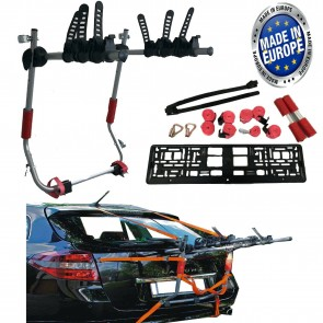 Car Boot 3 BIKE CYCLE CARRIER RACK To Fit Citroen Citreon C Zero C1 C2 C3 C4 C5